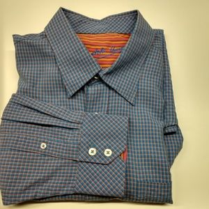 Bugatchi men's shirt, Xlarge, small blue checks
